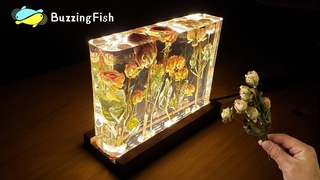 🌹Roses and Epoxy Resin Night Lamp - Resin Art 🌹