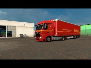 ETS2  open beta - Euro Truck Simulator 2 - Mercedes Actros MP4 - Oslo to Krisriansand