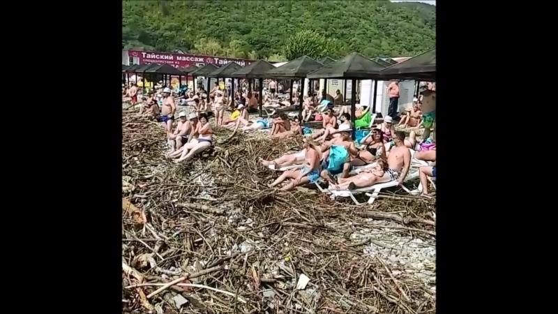 Комфортный отдых на пляже в Архипо Осиповке Краснодарский край 9 09 2018