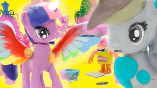 Play Doh Surprise ⭐️ My Little Pony Wrong Colors! ⭐️ Cartoons for Kids