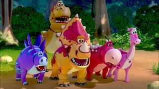 Мультик🦕  ТУРБОЗАВРЫ🦕  - В Поисках Сокровищ 🧭  Мультфильмы про динозавров