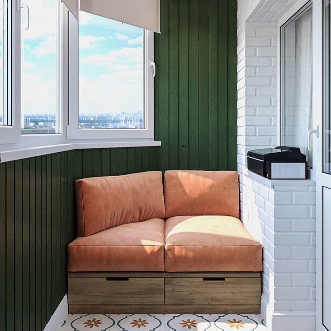 Кухня и балкон из одного проекта.