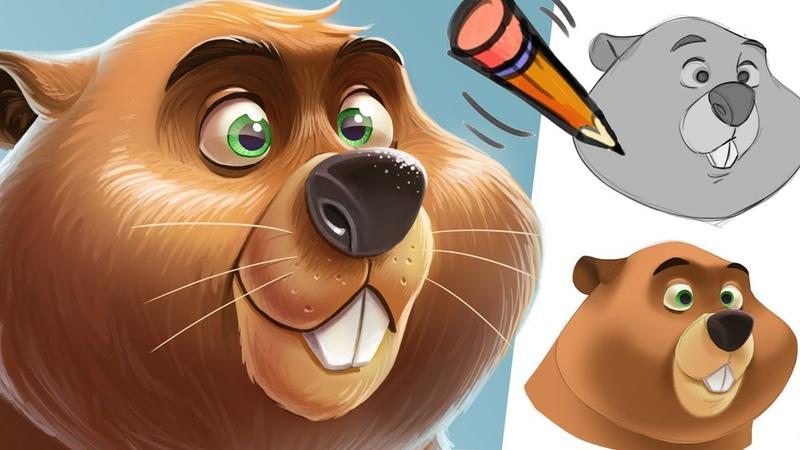 Cartoony animal painting tutorial