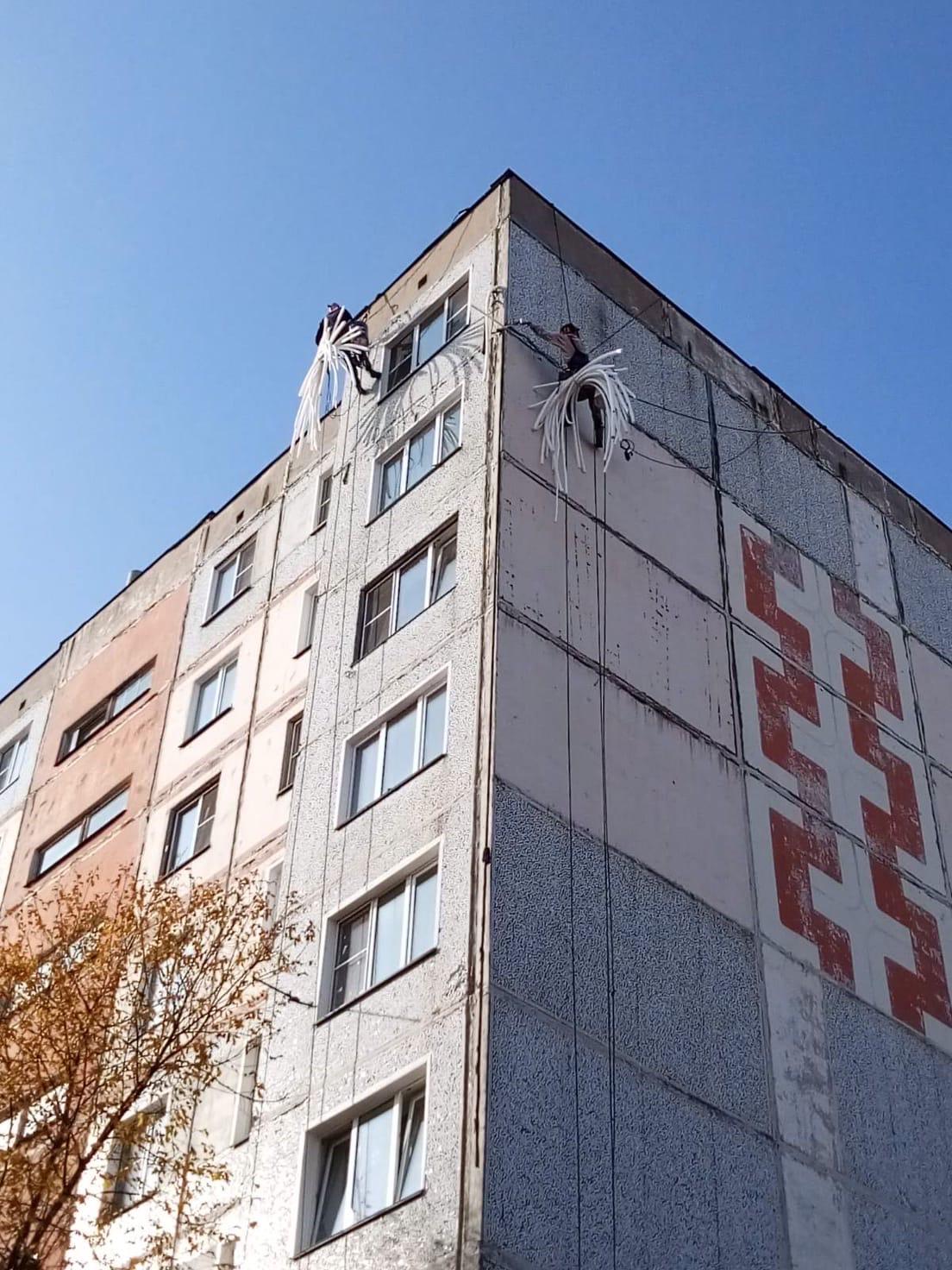 Проспект Строителей дом 46 ремонт межпанельных швов
