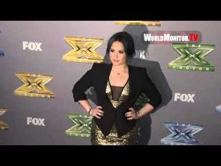 Demi Lovato arrives at FOX's 'The X Factor' Season 3 Grand Finale