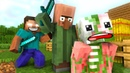 Monster school Zombie Pigman Life Minecraft Animation