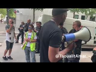 27 07 19 Lger tension entre Citoyens et CRS devant L IGPN !!.mp4
