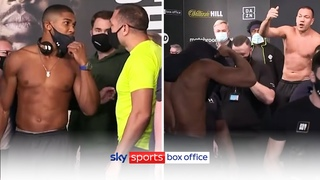 FURIOUS EXCHANGE! 😡| Anthony Joshua vs Kubrat Pulev | Full Weigh-In