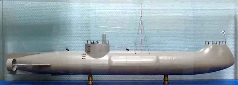 Подводная лодка И.Ф. Александровского. Макет. Из собрания Музея истории подводных сил России им. А.И. Маринеско.
