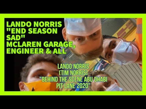 LANDO NORRIS END SEASONS SAD UNBOXING MCLAREN, ENGINEER GARAGE (UNEXPECTED FRIENDS JOINS)