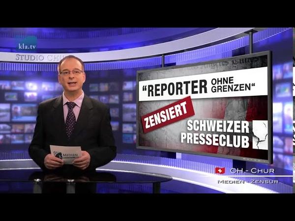«Reporters sans frontières» censure le Club suisse de la presse Français Medien Klagemauer TV