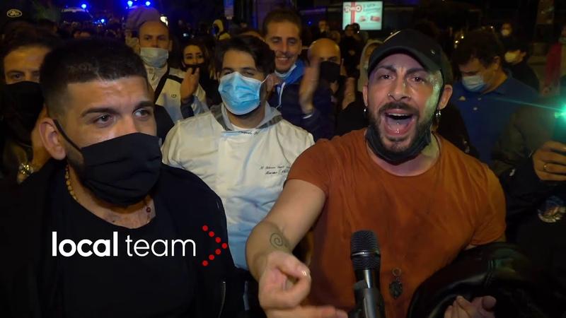 Napoli corteo contro le chiusure al Vomero il racconto per immagini della serata di protesta