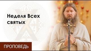 Воскресная проповедь о.Бориса. Неделя Всех святых.