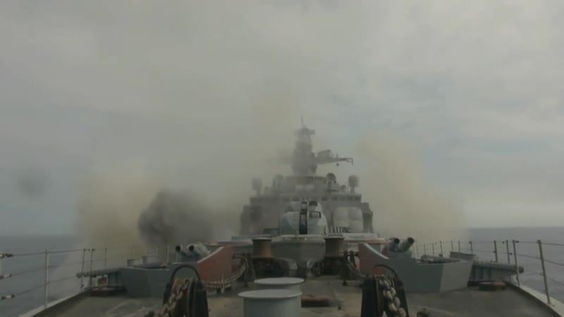 Противолодочное учение кораблей Тихоокеанского флота