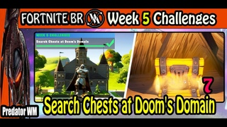 Search Chests at Doom's Domain / Week 5 Challenges Chapter 2 Fortnite BR