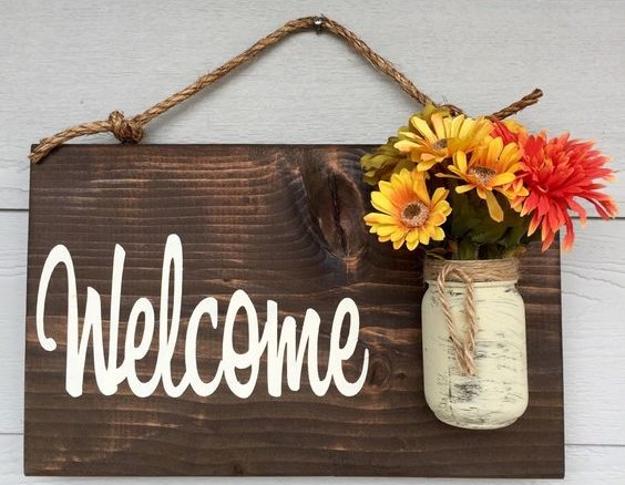 welcome signs diy - 570×760