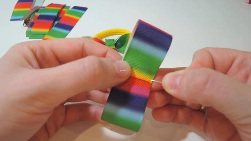 🎀 🎀 🎀 3 способа сделать бантики из ленты 2 5 см 🎀 🎀