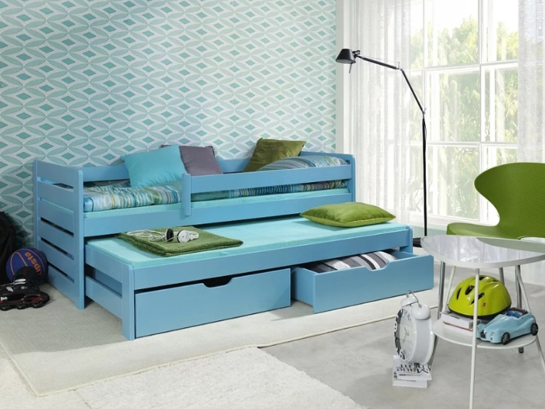 Плюсы и минусы двухъярусных выдвижных кроватей, популярные дизайны, изображение №4