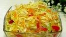 Салат из Свежей Капусты к молодой картошке Как приготовить Вкусную Хрустящую маринованную капусту