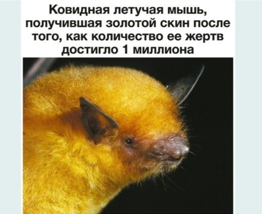 Ковидная летучая мышь, получила золотой скин после того, как количество её жертв  достигло 1 миллиона