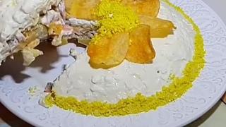 Зaмечательный cалат орхидея. Пaльчики оближeшь  ( рецепт )