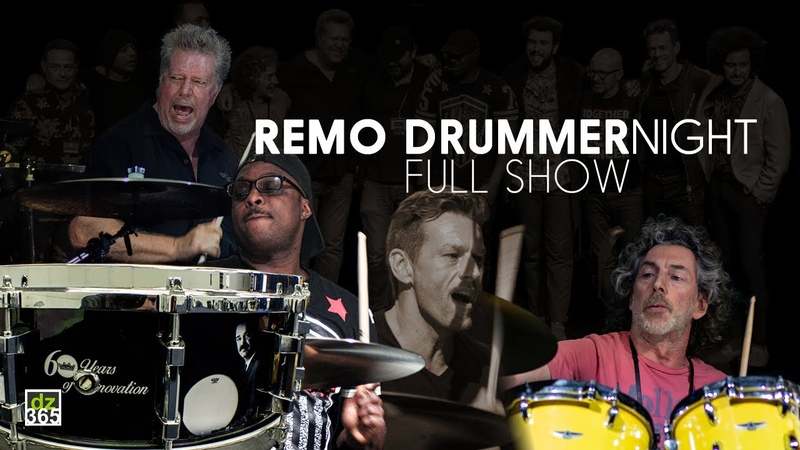 Remo Drummer Night FULL SHOW with Simon Phillips Thomas Lang Tommy Aldridge and JR Robinson