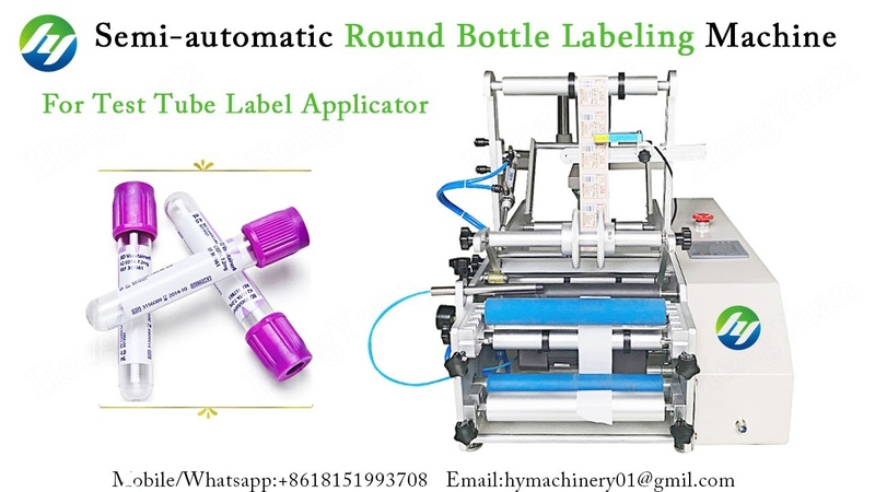 Semi automatic Round Bottle Labeling Machine for test tube label applicator