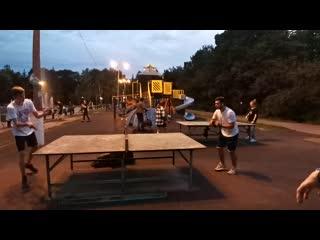Летний вечер около фонтана г. Жуковский