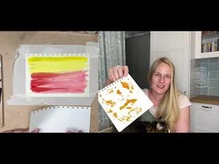 Быстрые уроки | Пробую рисовать техниками из Тик ток | Уроки рисования для взрослых | рисуем вилкой