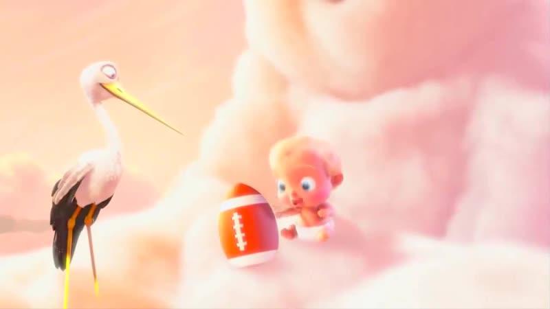видео Футаж Аист приносит ребенка