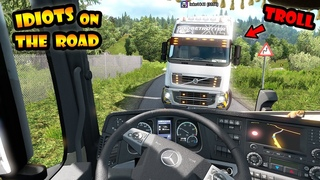 ★ IDIOTS on the road #77 - Funny Moments - ETS2mp FAILS & Wins - Euro Truck Simulator 2
