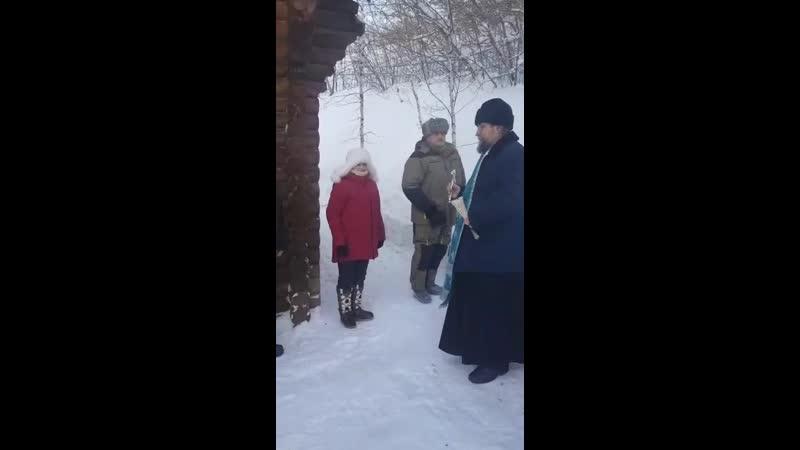 Освящение купели в честь иконы Казанской Божией Матери и Николая Чудотворца