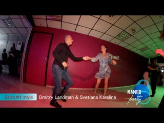 Salsa NY style. Dmitry Landman & Svetlana Karelina || MAMBO party by Dance Studio 25.5