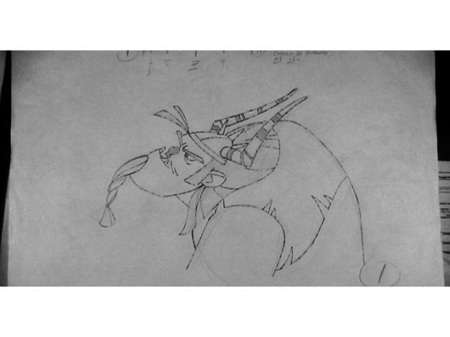HTTYD DVD Legend of the Boneknapper Dragon pencil tests