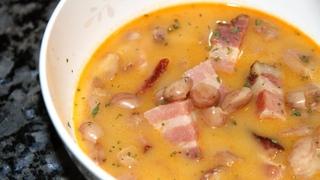 БОБ ЛЕВЕШ -вкуснятина венгерской кухни.Венгерский суп с копченостями и фасолью.