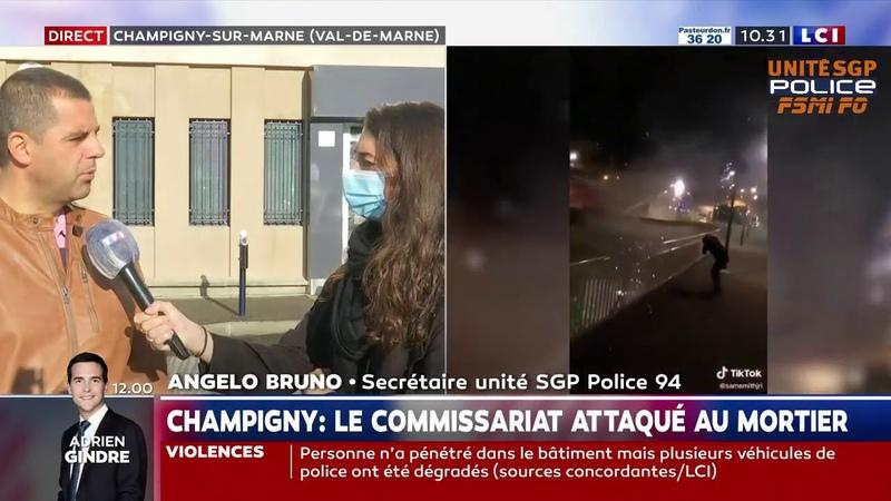 Angelo Bruno est en colère sur LCI suite à l'attaque de Champigny