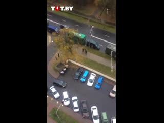 Задержания на перекрестке улиц Притыцкого и Ольшевского 11 октября