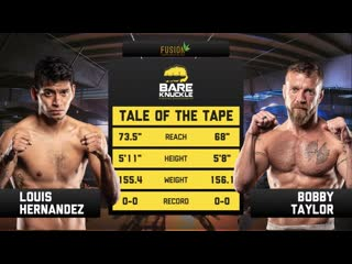 #BKFC11 Bare Knuckle Fighting Championship 11 - (4) Louis Hernandez vs. Bobby Taylor