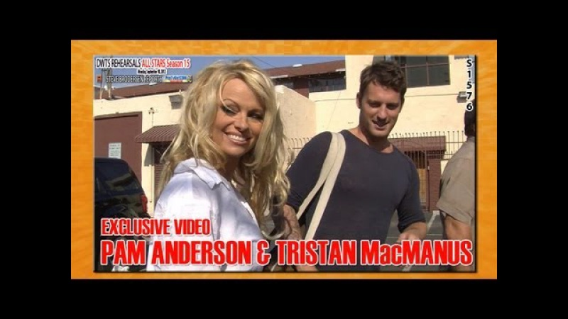 Pam Anderson and Tristan MacManus Arrive at DWTS Rehearsals and Chat S1576