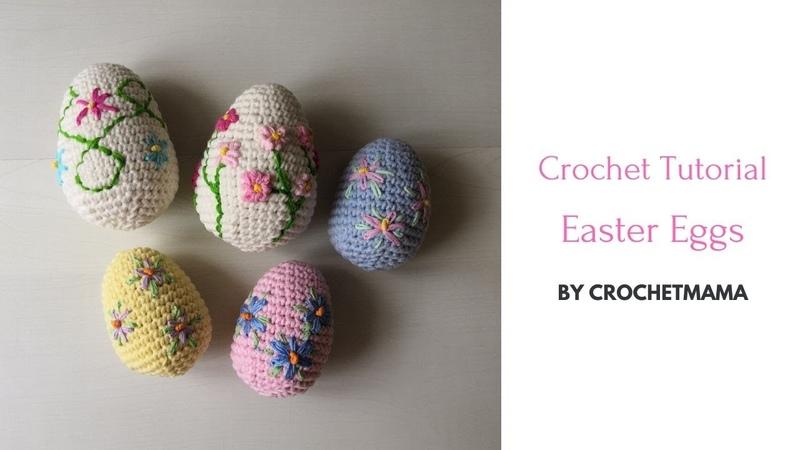 Crochet Easter Eggs for Beginner Lefthanded Handed Version