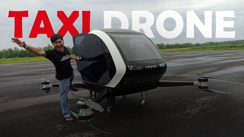Uji Terbang Taxi Drone Pertama di Indonesia
