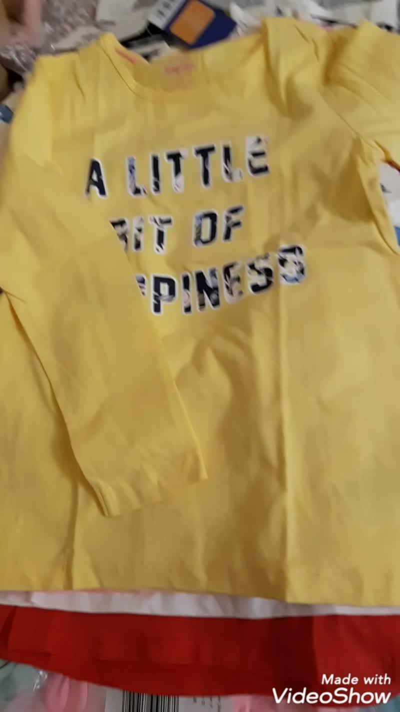 🎥ВИДЕО ОБЗОР Наличия топов, футболок и лонгов для девочек. Цены и размеры  под фото(и в альбоме)
