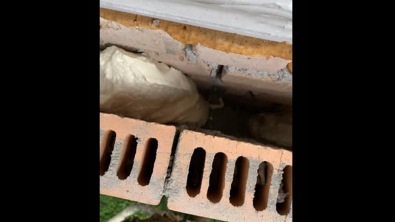 Утепление кирпичного дома методом заливки пенополиуретана за облицовку