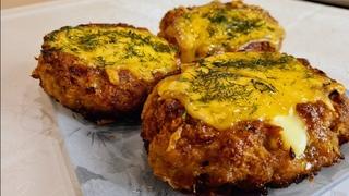 ШИКАРНЫЕ котлеты лодочки из фарша с сыром и яйцом запеченные в духовке! Готовлю их на любой праздник