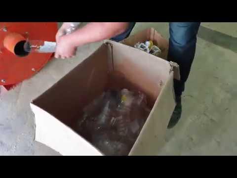 Измельчение ПЭТ бутылки Шмель 7 5 кВт Дробилка пластика ПВХ