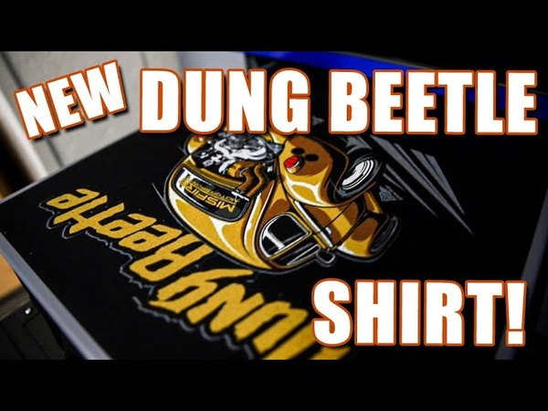 NEW DUNG BEETLE SHIRT Printed on an Epson SureColor F2100 DTG