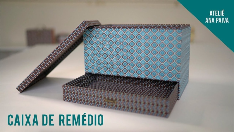 Caixa de Remédio Cartonagem Ateliê Ana Paiva
