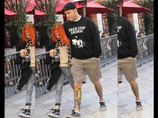Hayley Williams and Chad Gilbert at the Grove in Hollywood, CA.