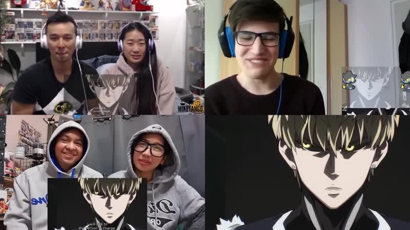 Best Reactions Anime Сайтама проходит экзамен Реакция иностранцев Ванпанчмен 5 серия