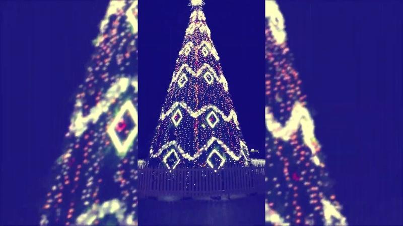 Atsisveikinimas su fantastiškiausia Jonavos Kalėdų eglute! Прощание с фантастичной ёлочкой!